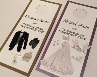 Do Not Disturb Door Hanger for Bridal Suite and Groom's Suite // Door Knockers // One of a Kind