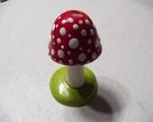 Red and white mushroom shroom incense holder Amanita muscaria