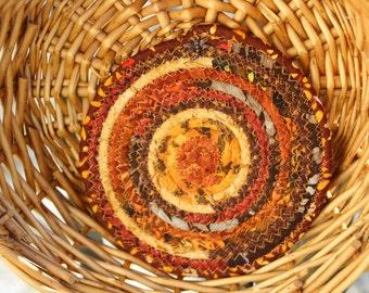 Harvest colored coiled trivet