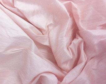 Dupioni pale pink silk