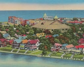 Antique 1950's Postcard   Ocean Grove   Neptune Township   Monmouth County   New Jersey