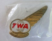 Trans World Airlines Pin Junior Hostess Wing Vintage TWA Pin Never Used Collective Pin