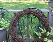 "Barbed Wire Round Wreath Authentic Dairy Farm 21"" Barbed Wire Wreath / Large Rustic Wire Wreath/ Wedding Decor/ Industrial Wall"
