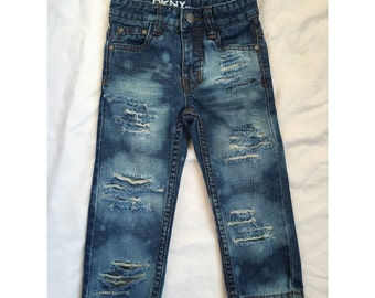 Bleached and Distressed Toddler Jeans