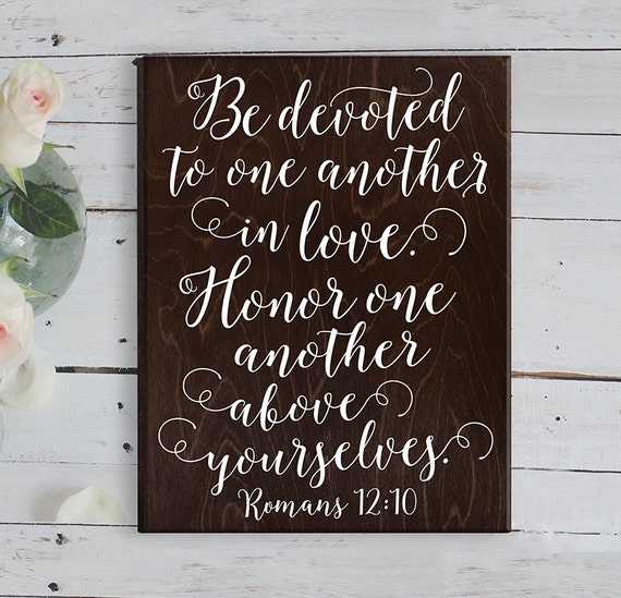Cool Wedding Gifts For Young Couples: Romans 12 10 Bible Verse Wall Art Bible Verse By ElegantSigns
