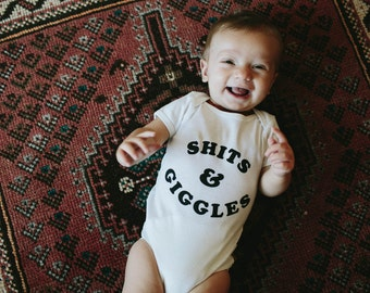 Sh*ts & Giggles bodysuit, by The Bee and The Fox