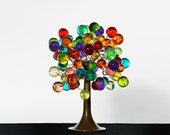 Multicolored bubble Table lamp with metal wires, small table lamp, colorful bubbles lighter.
