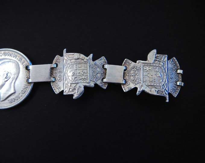 Silver Coin Bracelet Australian Silver Coins 1944 Coin Jewelry Jewellry