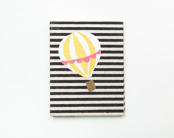Sketchbook // Journal - yellow hot air balloon
