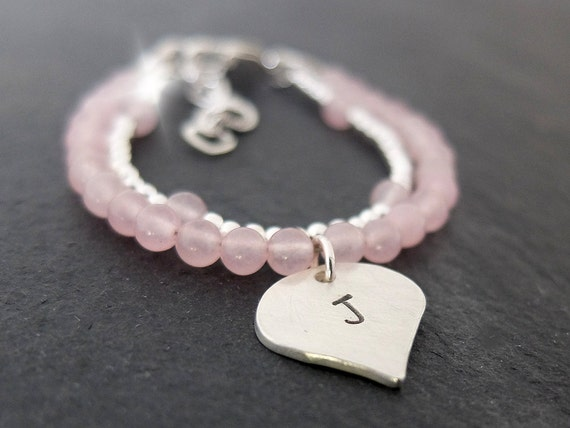Christening Bracelet, Christening Gift, Personalised Childs Bracelet with Initials, Baptism Bracelet, Childrens Jewellery