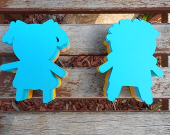 Boy and Girl Paper Die Cut, baby shower,birthday,wall decoration,gender reveal,wishing tree