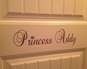 Personalized Princess Wall/Door Decal