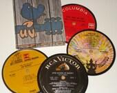 WOODSTOCK Coaster Set vinyl record coasters for drinks