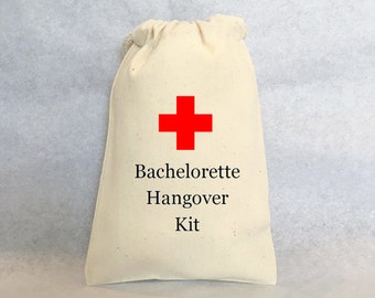 "12 Bachelorette Hangover kit, Bachelorette Survival Kit, Party favor bags 4"" by 6"""