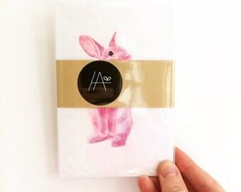 5 Postcard Set • Pink Bunnies