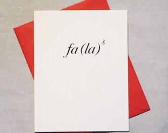 Math Equation Christmas Card / Deck the Halls Holiday Card /Fa La to the Eighth / Fa La La La La / Positively Awesome Math Cards