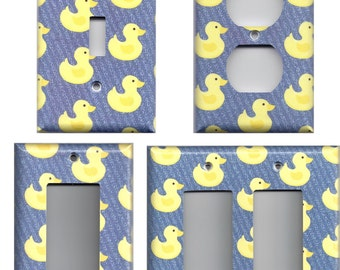 Light Switch Plates and Wall Outlet Covers Yellow Rubber Ducks/Duckies Home Decor Accents Bathroom Decor