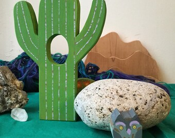 Saguaro Cactus with Elf Owl Friend