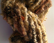 Coiled Wensleydale Burnt Tan and Blonde Yarn for Doll Hair