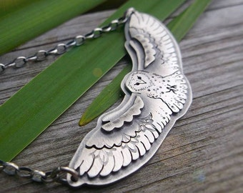 The Barn Owl Necklace - Silversmithed Totem Necklaced