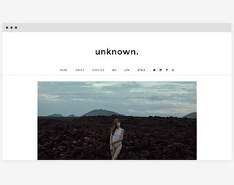 Wordpress template 'Unknown'