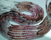 2 x 14 Inch Strand, Finest Quality,Natural Multi Spinel Faceted Rondelles Beads 3.5-4mm aprx