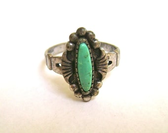vintage bell trading post turquoise ring, size 5.25