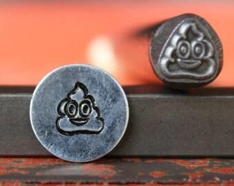Emoji Pile of Poo Metal Design Stamp - Metal Stamp - Perfect for Metal Stamping and Jewelry Design Work - SGFUNL-1