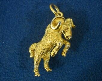 Vintage Aries Ram Charm