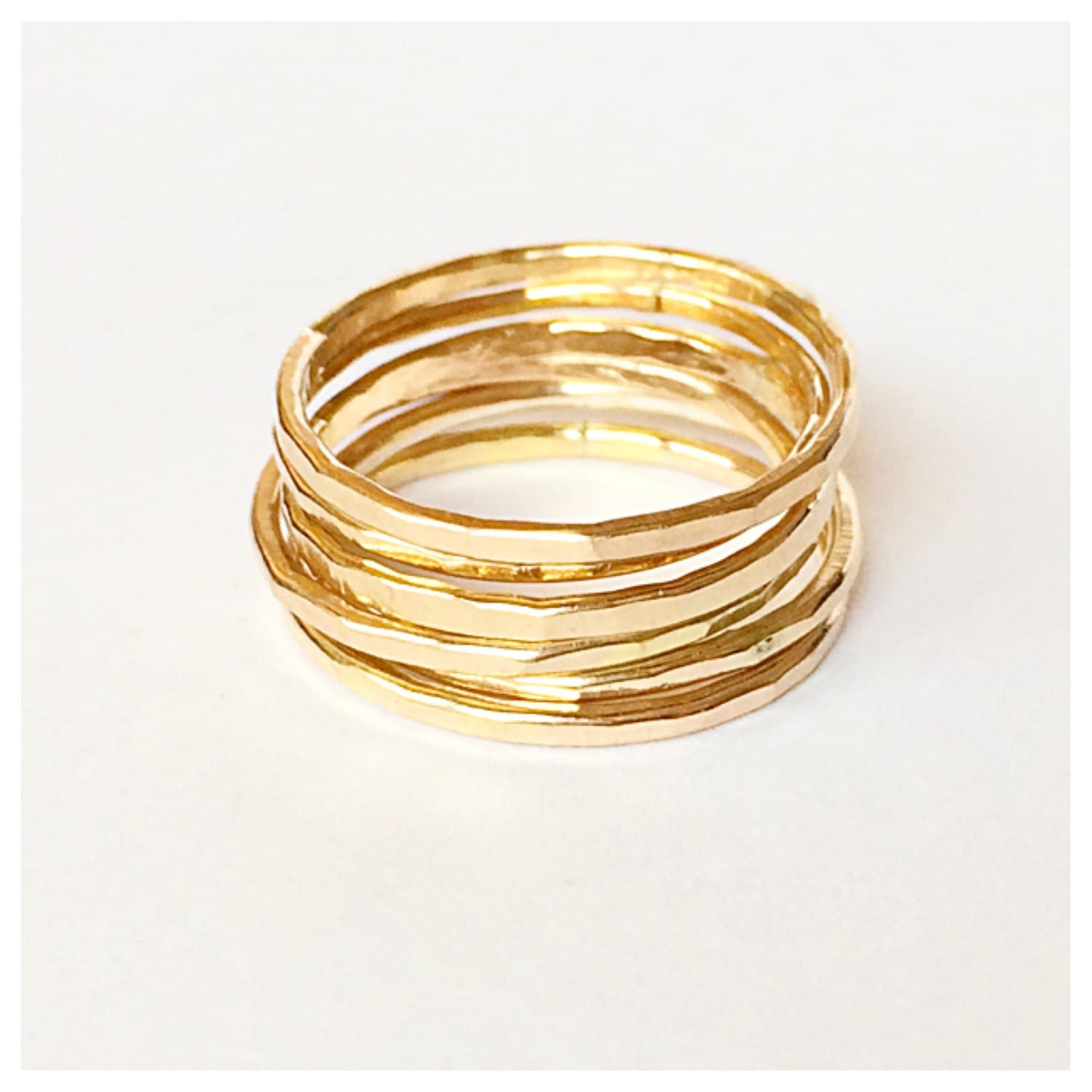 gold stacking rings silver stackable rings argentium