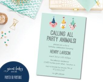 Barnyard Birthday Invitation, Farm Birthday Party, Animal Birthday Invite, Farm Party Animals, Barnyard Girl, Cow Birthday Invitation