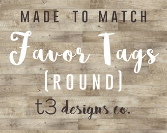 Coordinating Favor Tags | DIGITAL ONLY