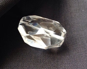 Faceted Natural crystal Pendant #556682
