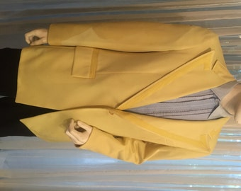 Groovy Vintage Lemon Yellow Dinner Jacket, ca 1970s