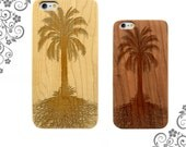 Palm Tree and Roots Laser Engraved wooden iPhone cases. Wooden Galaxy Cases Customized Phone Cases LW0252
