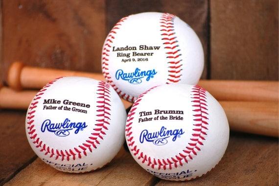 Baseball Wedding Gifts: Ring Bearer Gift Personalized Baseball Custom Wedding Gift