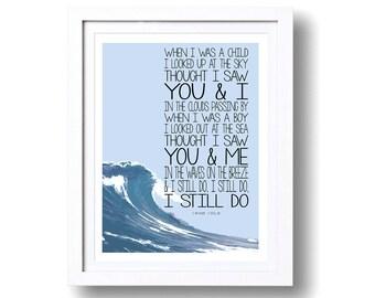 Song Lyric A4 Art Print - I am Kloot - I Still Do - Song Lyrics Artwork Typography Design Prints - PRINT ONLY