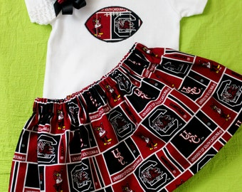 University of South Carolina  girl's 3pc bodysuit set