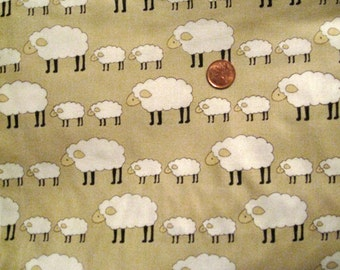 """Locally Grown Sheep - Natural - FQ 18""""  x  20"""""""
