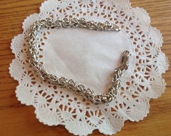 Vintage sterling Byzantine link bracelet