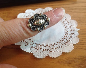 Vintage sterling Mexican Dome ring