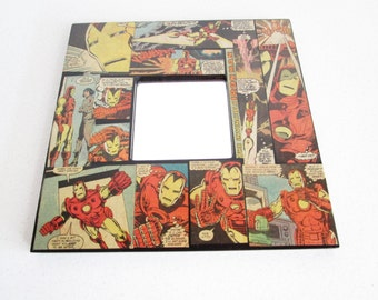 Iron Man Marvel Vintage Comic Mirror Perfect for a Kid's Room! 10x10
