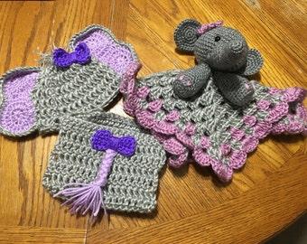 Elephant Lovey and Photo Set