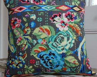 Amy Butler Square Cushion/Pillow in Celestial Charcoal