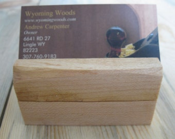 rustic maple business card holder natural maple business card holder