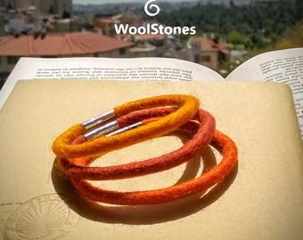 Wool bracelet set