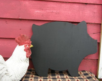 Chalkboard Pig sign