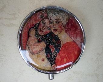 Klimt art pill box - Pill case -  Pill container - Jewelry box - Mint case - Gustav Klimt