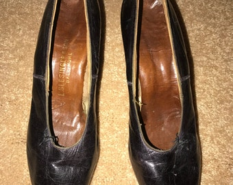Antique Leather Shoes with Louis Heel - Great for Wizard of Oz Silver Shoes