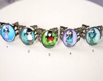Little girl cabochon ring